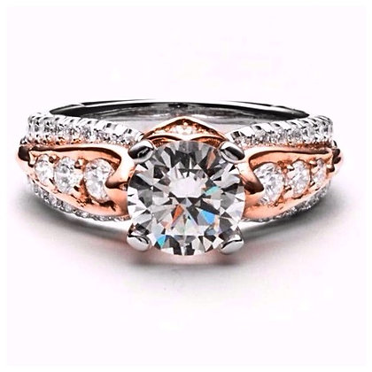 .81 ctw Two Tone Diamond Engagement Mounting
