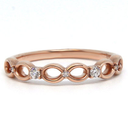 0.08 ctw Rose Gold Diamond Ring