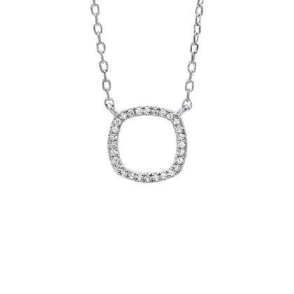 .05ctw Diamond Moon Necklace