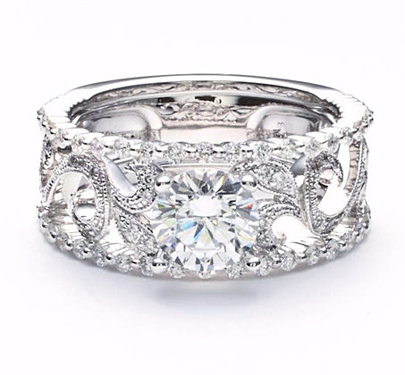.48 ctw White Gold Diamond Engagement Ring