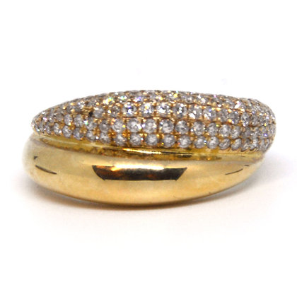 Yellow Gold 0.90 ctw Diamond Ring