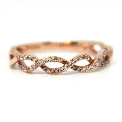 0.17 ctw. Rose Gold Diamond Ring