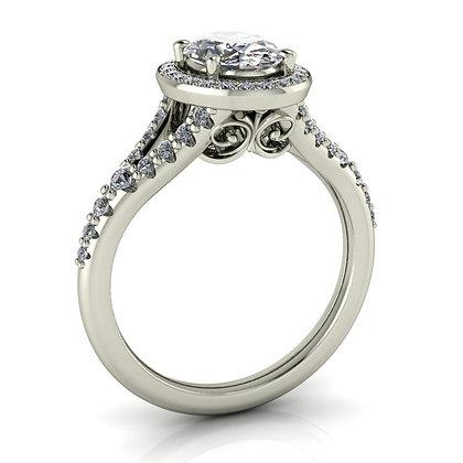 .33 ctw White gold diamond engagement ring