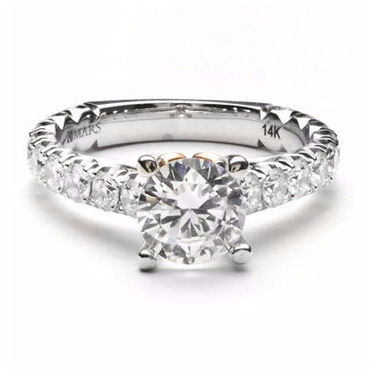 1.16 ctw Two Tone Diamond Engagement Mounting