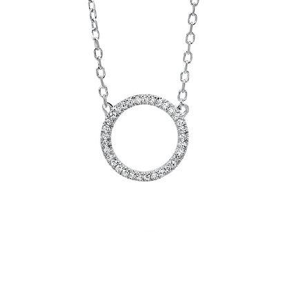 .05ctw Diamond Circle Necklace