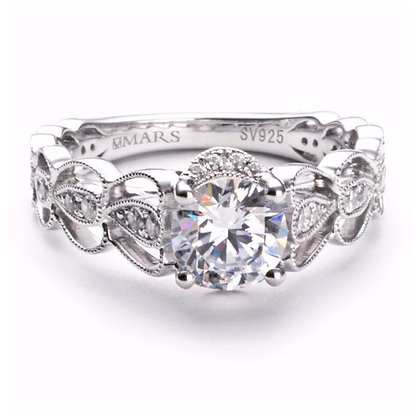 .28 ct 14k White Gold Diamond Engagement Ring