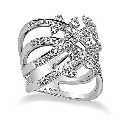 White Gold 1.32 ctw Diamond Ring