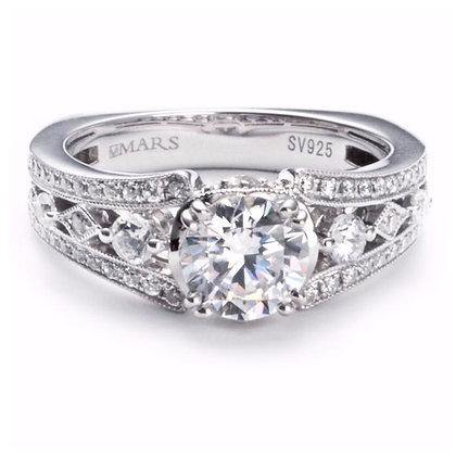 .50 ct 14k White Gold Diamond Engagement Ring