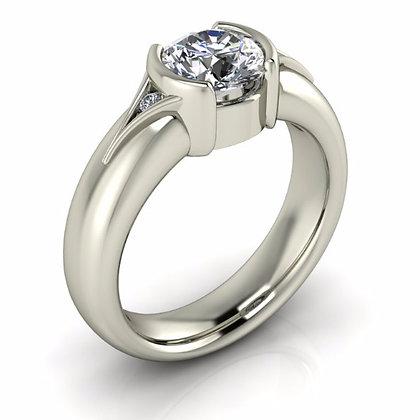 Stong Bezel Set Diamond Engagement Setting