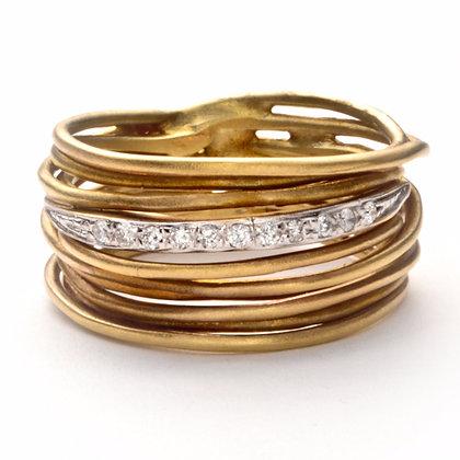 14K Yellow Gold .11 ctw Diamond Ring