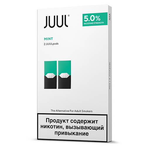 Поды для JUUL - Mint - упаковка из 2-х картриджей