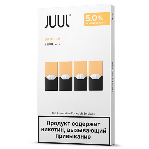 Поды для JUUL - VANILLA- упаковка из 4-х картриджей