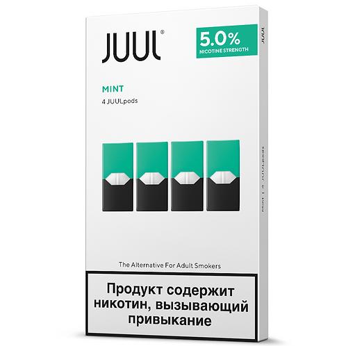 Поды для JUUL - MINT- упаковка из 4-х картриджей