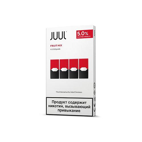 Поды для JUUL - FRUIT MIX- упаковка из 4-х картриджей