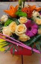 Bouquet avec structure bois