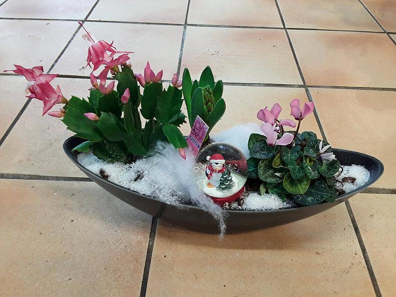 Composition de table boule à neige