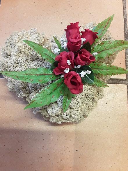 Compo artificielle lichen et roses