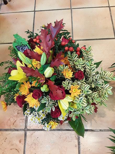 panier plantes et fleurs d'automne