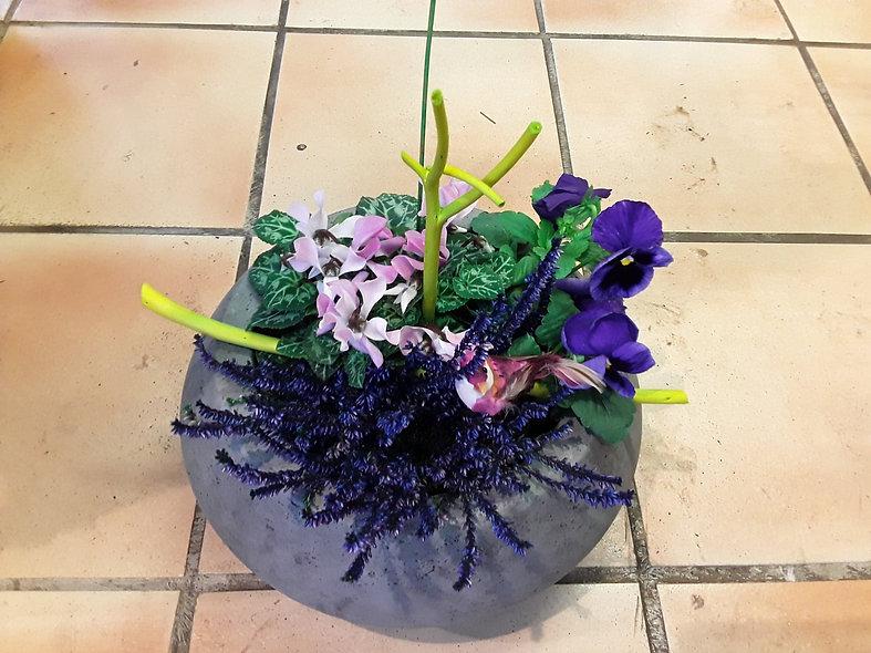 Composition vase céramique