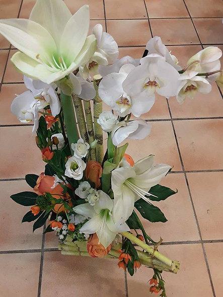 Assemblage orchidées et fleurs
