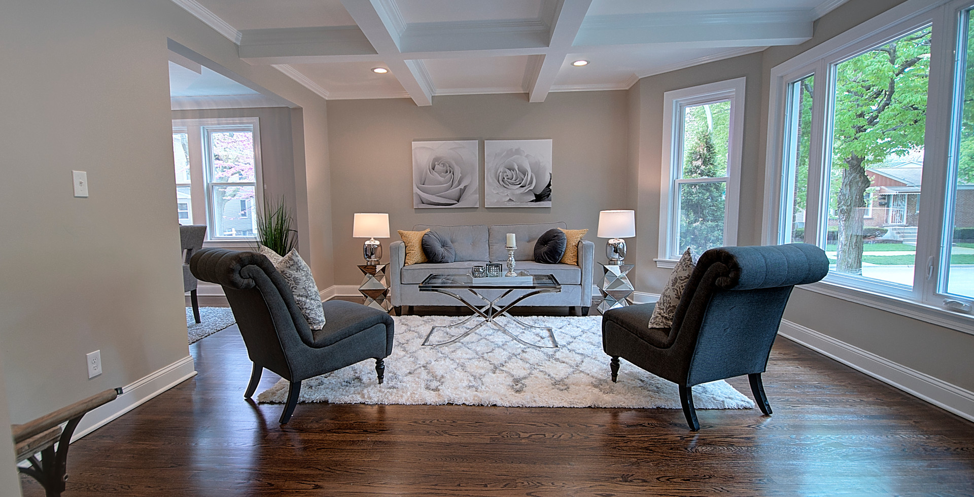 Living Room in Willowbrook designed by MRM Home Design.jpg