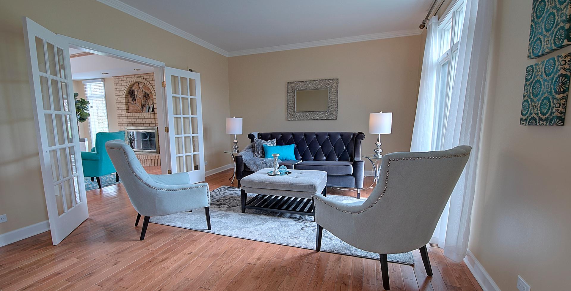Living Room in Des Plaines designed by MRM Home Design.jpg