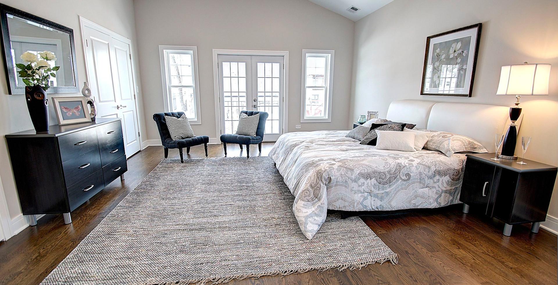 Bedroom in Arlington Heights designed by MRM Home Design.jpg