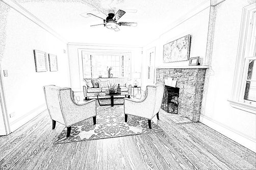 Family Room in Elmhurst designed by MRM Home Design