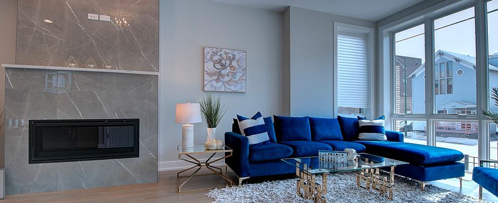 Living Room in Carol Stream designed by MRM Home Design.jpg