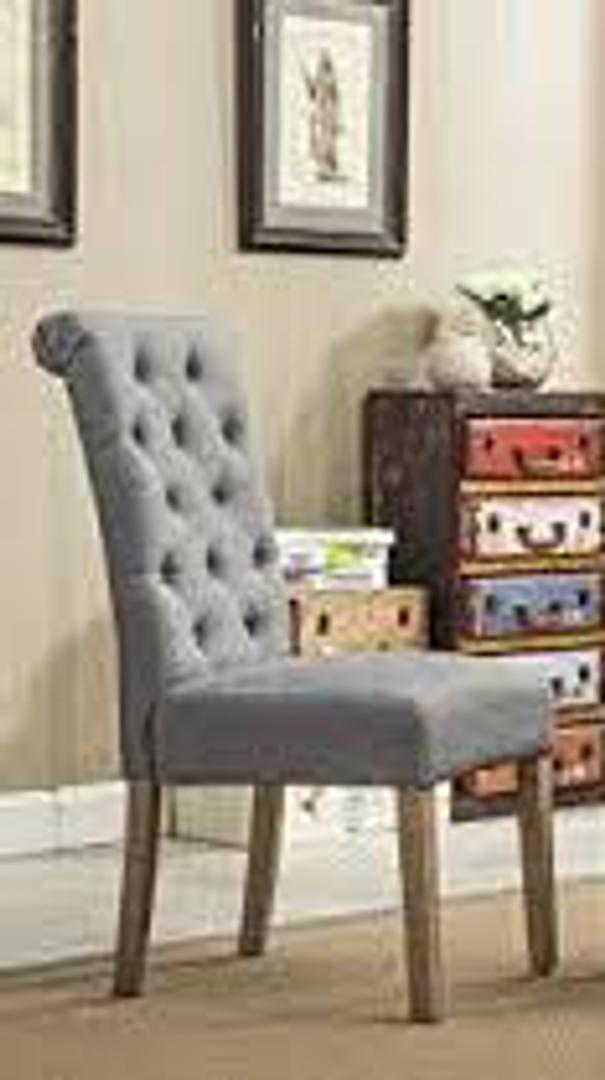 #1034 Gray Dining Chair (Set of 6) $440