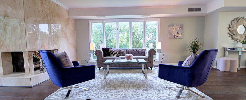 Living Room in Bolingbrook designed by MRM Home Design.jpg