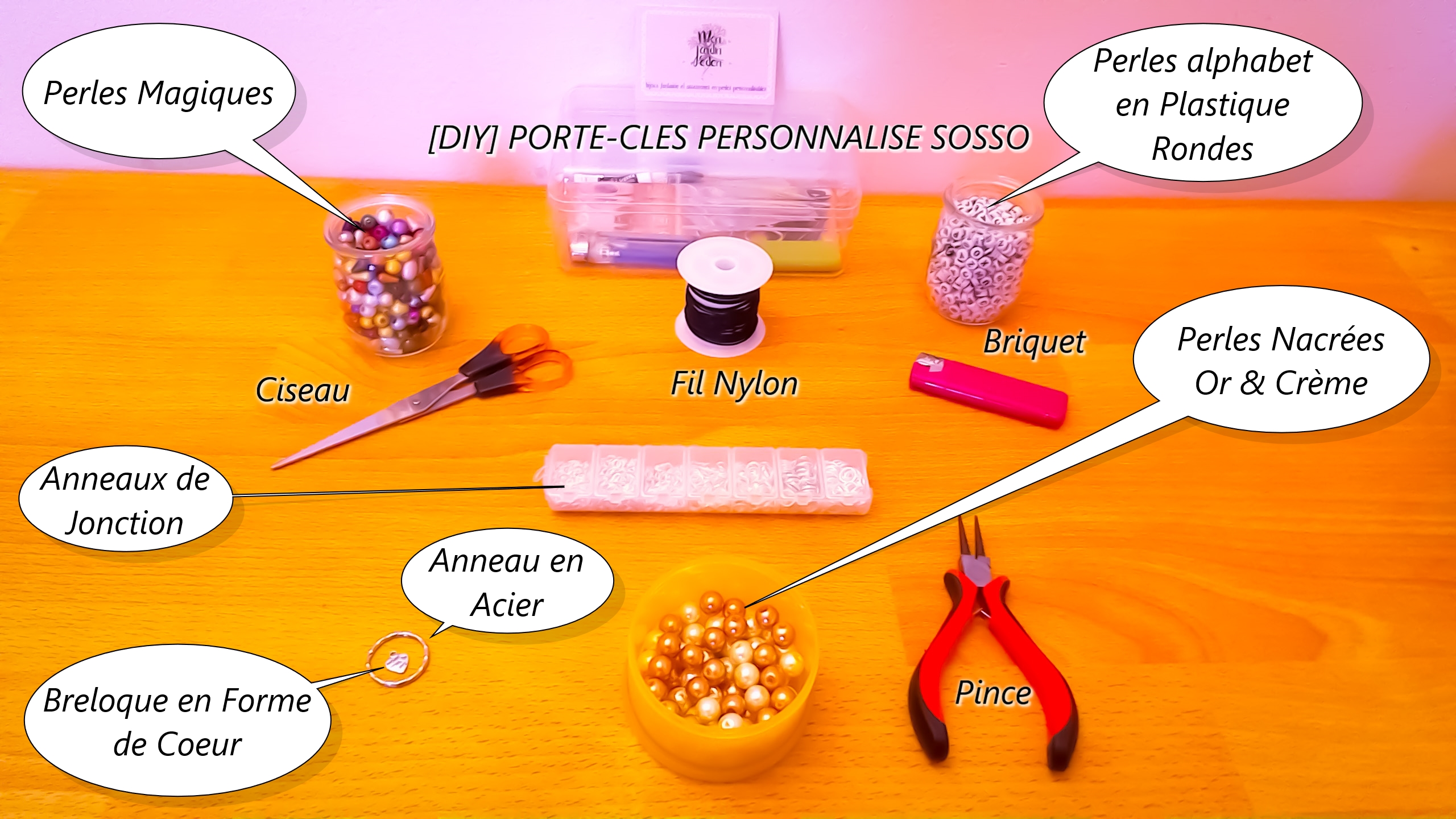 [DIY] PORTE-CLES PERSONNALISE SOSSO