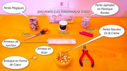[DIY] PORTE-CLES PERSONNALISE SOSSO