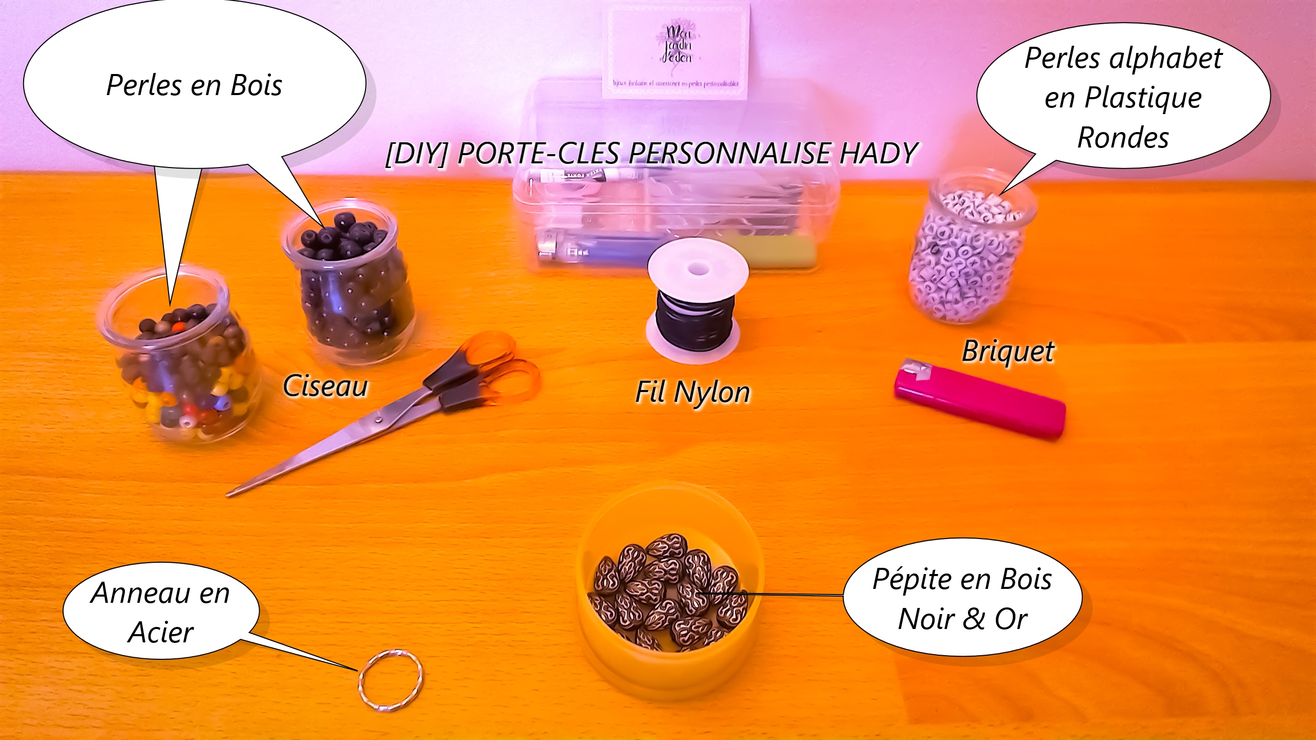 [DIY] PORTE-CLES PERSONNALISE HADY