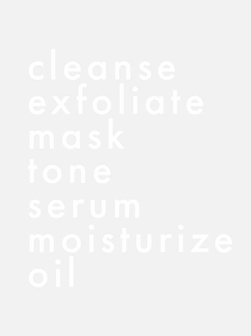 Skincare Routine Mirror Decal