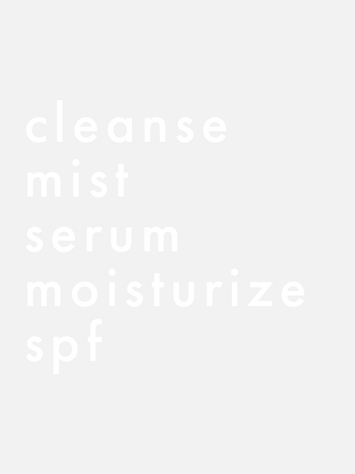 Customized Skincare Routine Mirror Decal