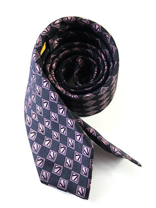 Black Cashmere and Silk Handmade Tie