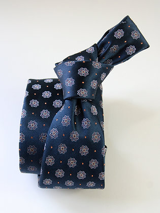 Royal Navy Satin Finish Pure Silk Handmade Tie