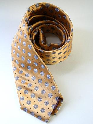 Gold Satin Finish Pure Silk Handmade Tie
