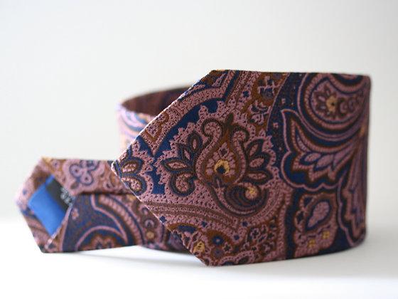 Navy Tapestry Paisley Handmade Silk Tie