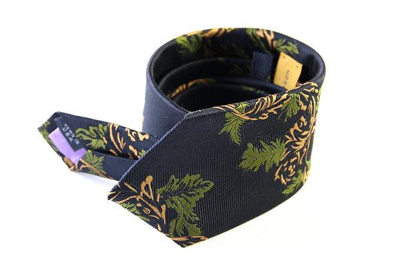 Black Horizontal Twill Pure Silk Handmade Tie