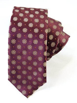Garnet Satin Finish Pure Silk Handmade Tie