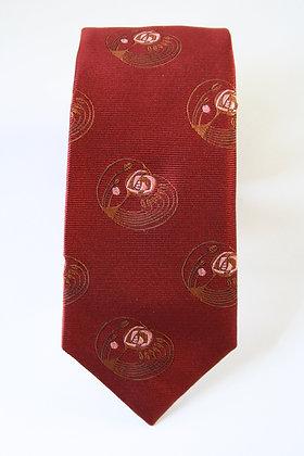 Fiesta Red Art Deco Handmade Silk Tie