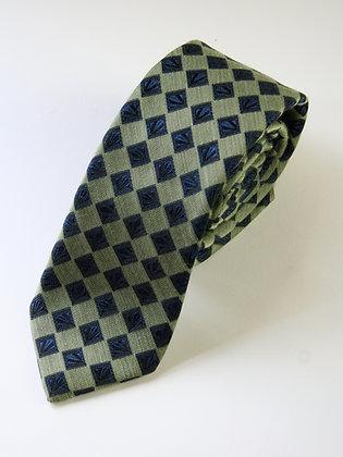 Fiesta Green Cashmere/SIlk Handmade Tie