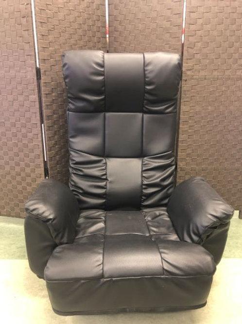 座椅子 レザー調 黒