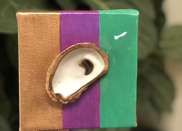 Oyster Mardi Gras 5x5 Canvas