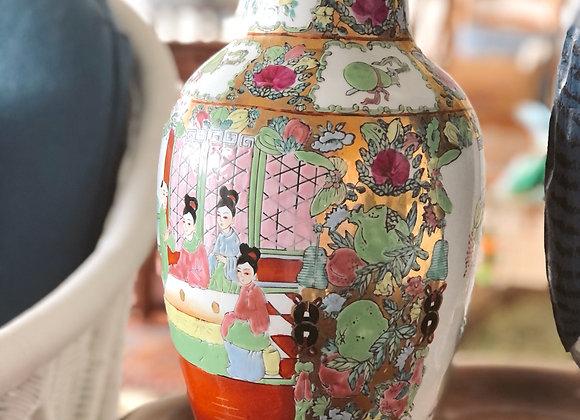 Rose Medallion Vintage Vase
