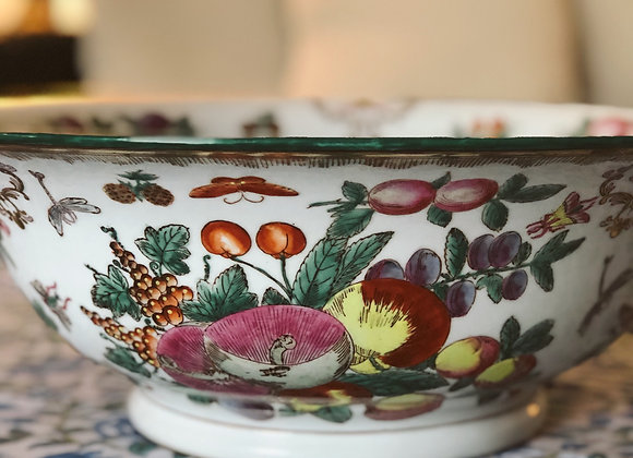 Vintage Chinese Gold Trimmed Decorative Bowl