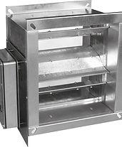 elevated temperature smoke control dampe