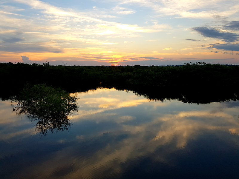 sunset Yacuma River in Pampas Bolivia